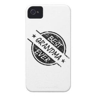 Best Grandma Ever Black iPhone 4 Case