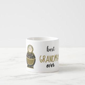 Best Grandma Ever Golden Matryoshka Russian Doll Espresso Cup