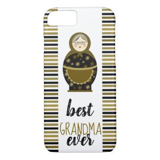 Best Grandma Ever Golden Matryoshka Russian Doll iPhone 8/7 Case