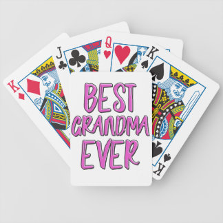 Best grandma ever grandmother bicycle playing cards