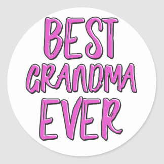 Best grandma ever grandmother classic round sticker