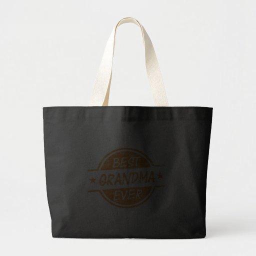 Best Grandma Ever Orange Canvas Bags