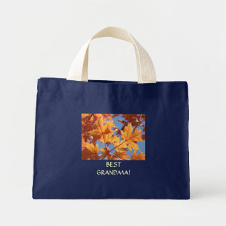 BEST GRANDMA GIFT Autumn Leaves Tote Bag Canvas