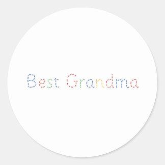 Best Grandma Round Stickers