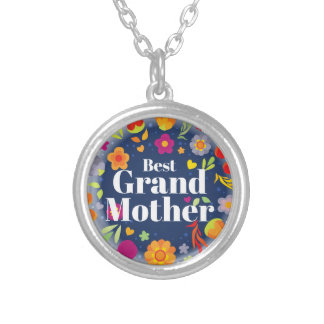Best Grandmother Silver Plated Necklace