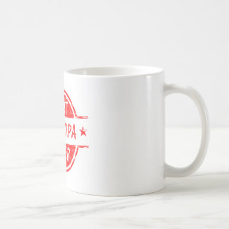 Best Grandpa Ever Red Basic White Mug