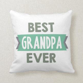 Best Grandpa Ever word art home decor pillow