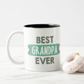 Best Grandpa ever word art mug