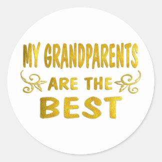 Best Grandparents Round Sticker