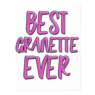 Best granette ever grandmother postcard