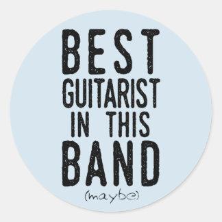 Best Guitarist (maybe) (blk) Classic Round Sticker