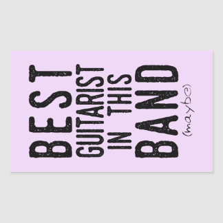 Best Guitarist (maybe) (blk) Rectangular Sticker