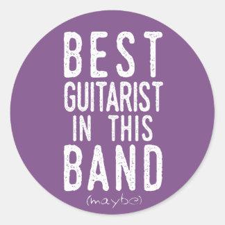 Best Guitarist (maybe) (wht) Classic Round Sticker