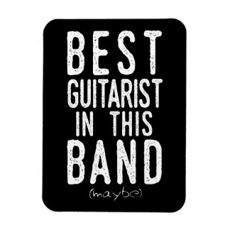 Best Guitarist (maybe) (wht) Magnet