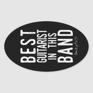 Best Guitarist (maybe) (wht) Oval Sticker