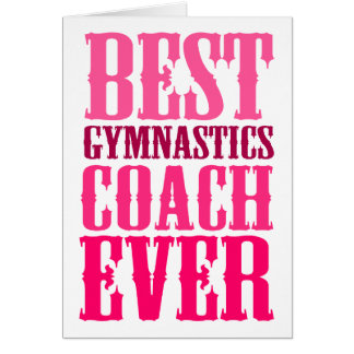 Gymnastics coach gifts t shirts art posters other for Best holiday cards ever
