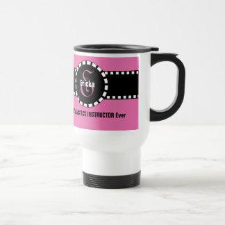 Best GYMNASTICS INSTRUCTOR Ever Monogram Custom V1 Travel Mug