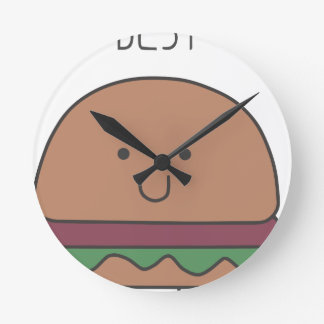 best hamburger round clock