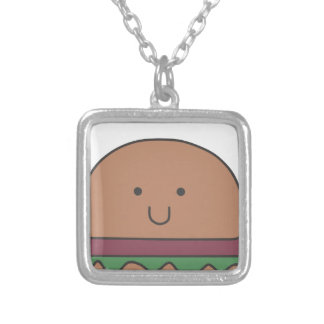 best hamburger silver plated necklace