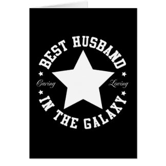 Best Husband In The Galaxy Card