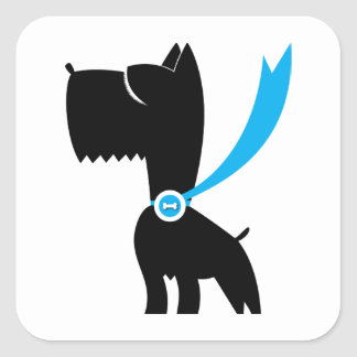 Best in Show Scottie Dog Square Stickers