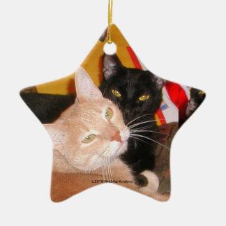 BEST KITTY FRIENDS CERAMIC STAR DECORATION