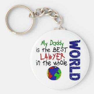 Best Lawyer In World 2 (Daddy) Basic Round Button Key Ring