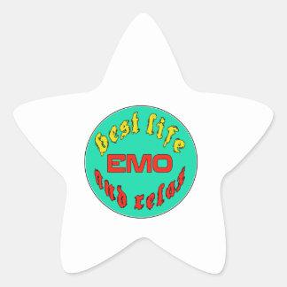 Best Life Emo Star Sticker