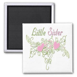 Best Little Sister Swirling Hearts Magnet