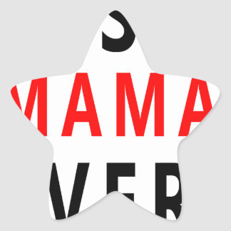 Best Mama Ever(3) Star Sticker