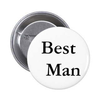Best Man 6 Cm Round Badge