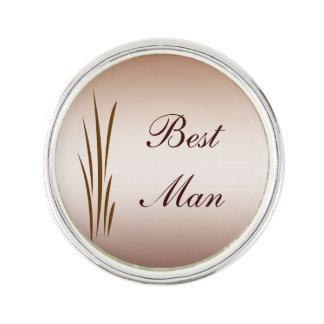 Best Man Autumn Harvest Wedding Lapel Pin