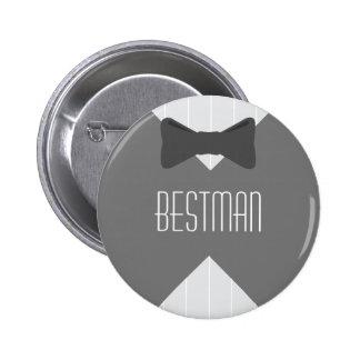 Best Man Bowtie 6 Cm Round Badge