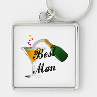 Best Man Champagne Toast Key Ring