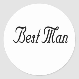 Best Man Classic Round Sticker
