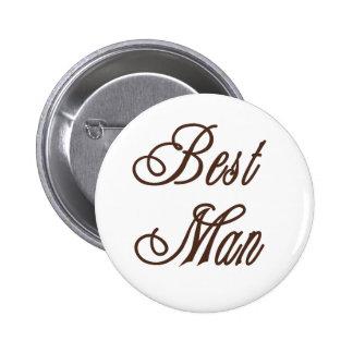 Best Man Classy Browns 6 Cm Round Badge