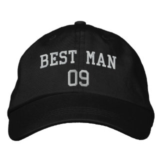 Best Man: Customizable Wedding Party Hat Embroidered Hat