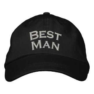 Best Man Embroidered Cute Wedding Hat Embroidered Baseball Caps