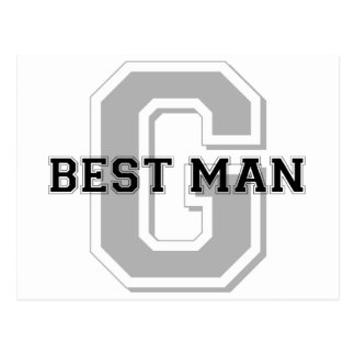 Best Man Groom Cheer Post Cards