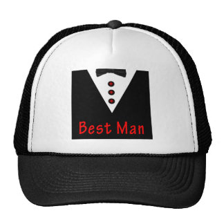 Best Man In Tux Trucker Hat