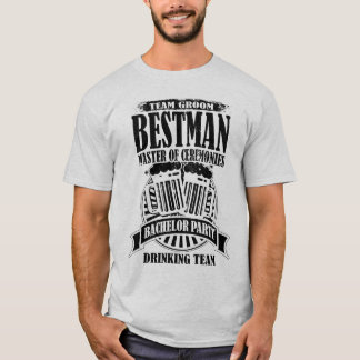 Best Man Master of Ceremonies Groom Bachelor Party T-Shirt