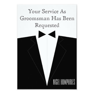 Best Man or Groomsman Invite