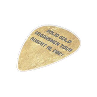 Best Man or Groomsman Invite Guitar Pick Polycarbonate Guitar Pick