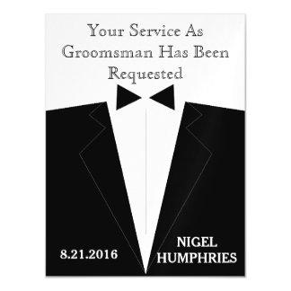 Best Man or Groomsman Reminder Magnetic Card