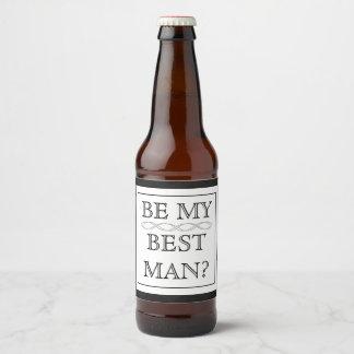 Best Man Proposal Gift - Custom Beer Label