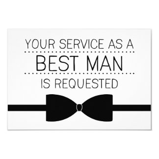 Best Man Request | Groomsmen 9 Cm X 13 Cm Invitation Card