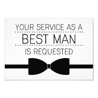 Best Man Request   Groomsmen 9 Cm X 13 Cm Invitation Card