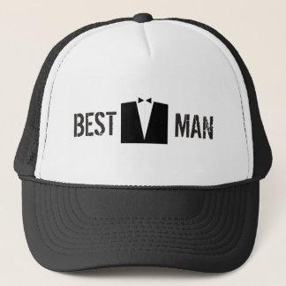 Best Man Suit Trucker Hat