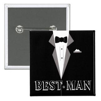 Best Man Tuxedo Art Button