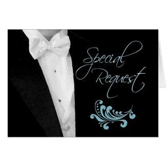 Best Man Wedding Attendant Request Greeting Card